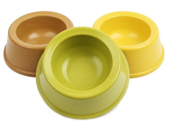 Durable Plastic Pet Food Bowls With Biodegradable Eco Plant  Fiber Material